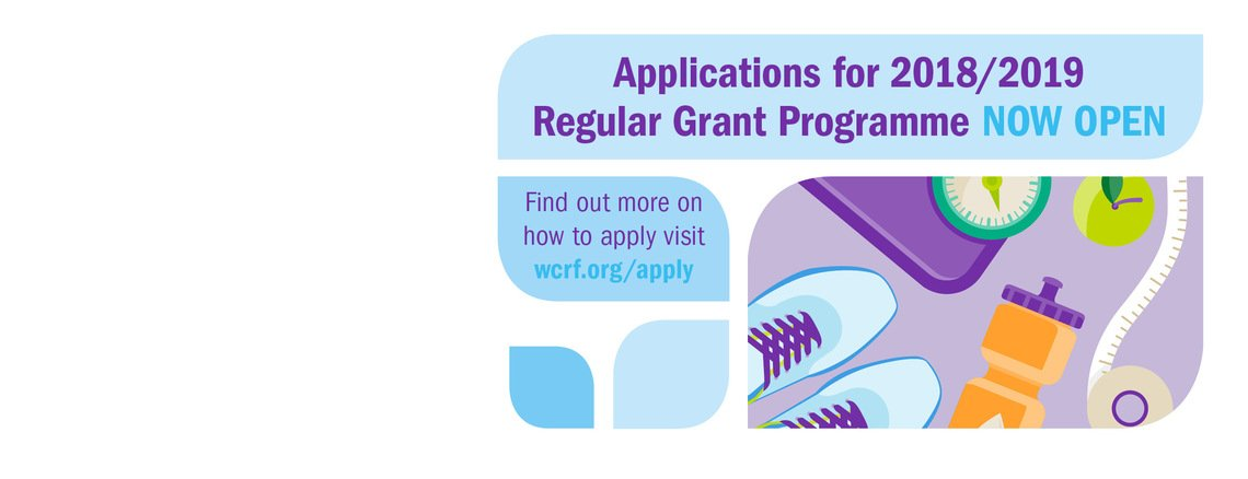 WCRF funding programme now open